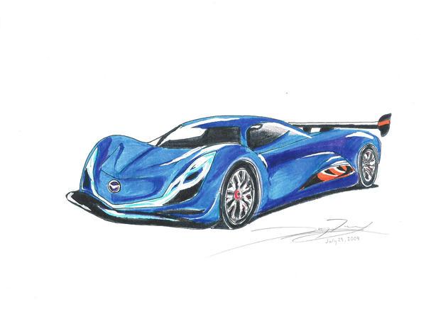 mazda furai concept. mazda furai concept car sketch by aglazeddonut