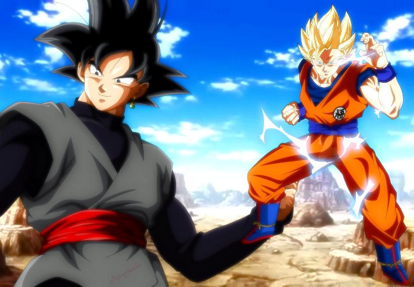 SSJ2 Goku Vs Black Goku V2 By LordAries06 On DeviantArt