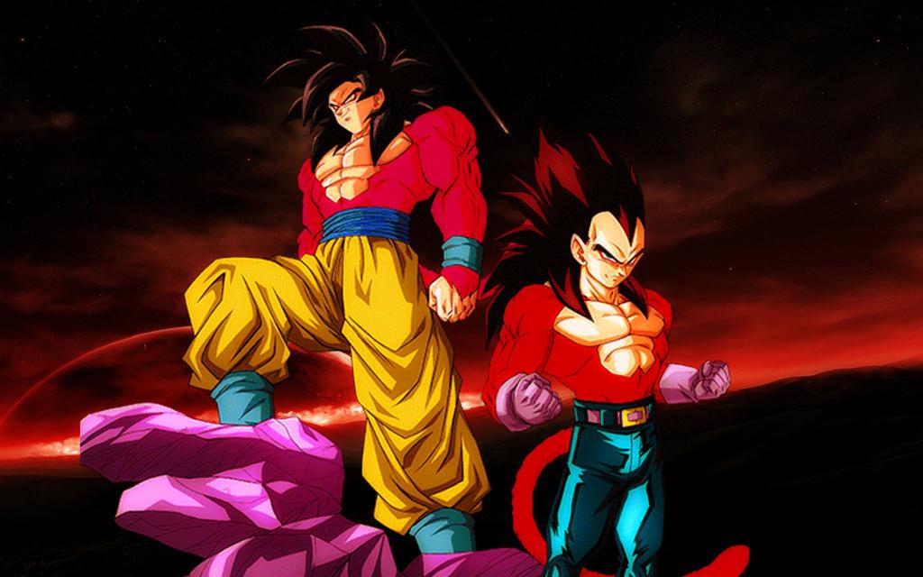 SSJ4 Goku And Vegeta Wallpaper By LordAries06