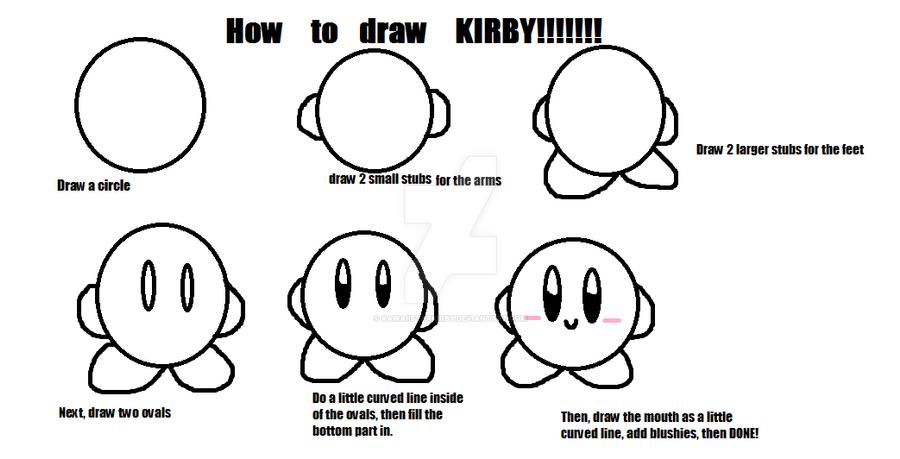 How to Draw Kirby! by KawaiiStarKirby on DeviantArt