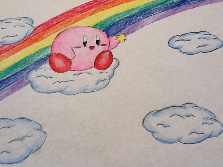 Kirby Rainbow by KawaiiStarKirby
