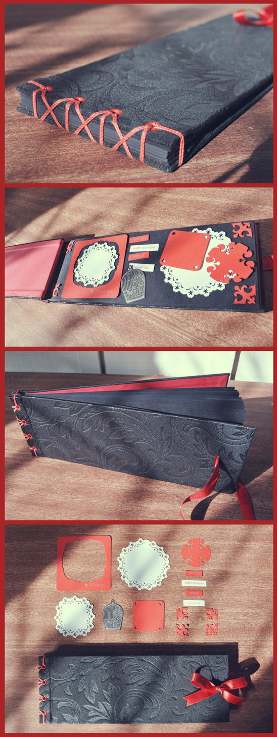 Black / Scarlet Scrapbook by sahdesign