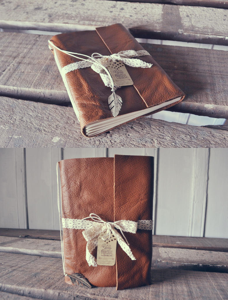 Brown Delicate Leather Book by sahdesign