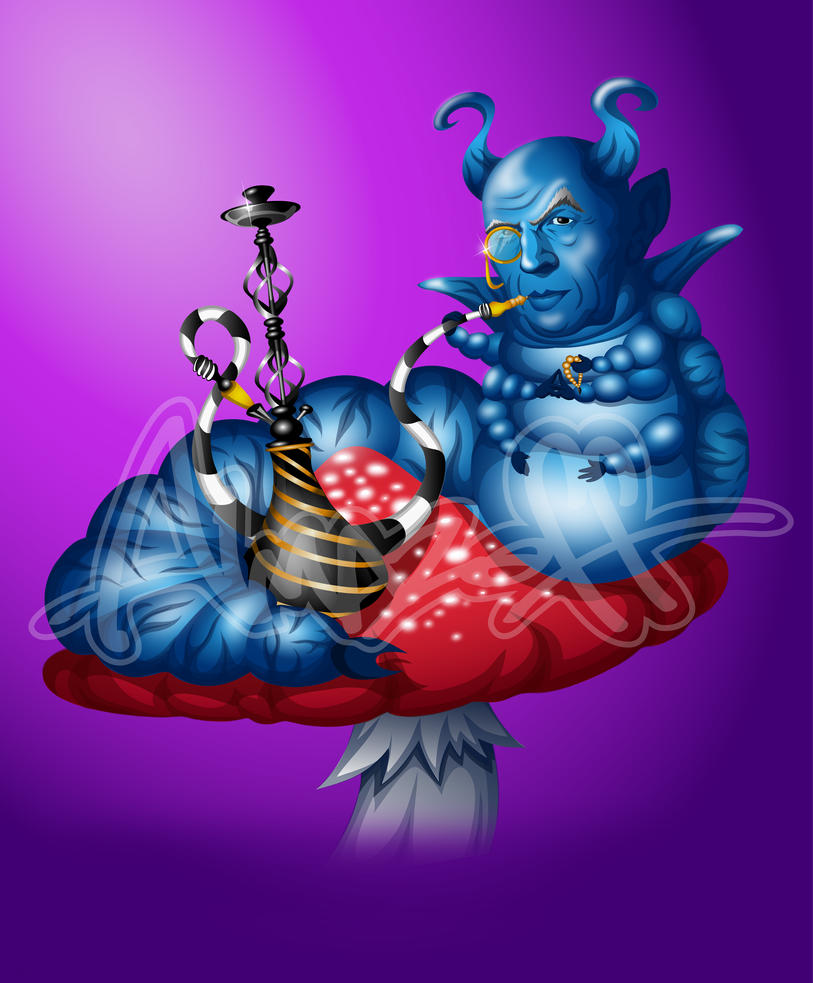Trippy Alice In Wonderland Caterpillar Smoking