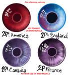 2p! Hetalia Eye Colours