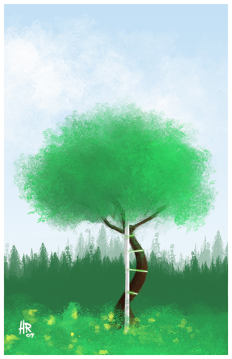 Neutral Little Tree by Rafta