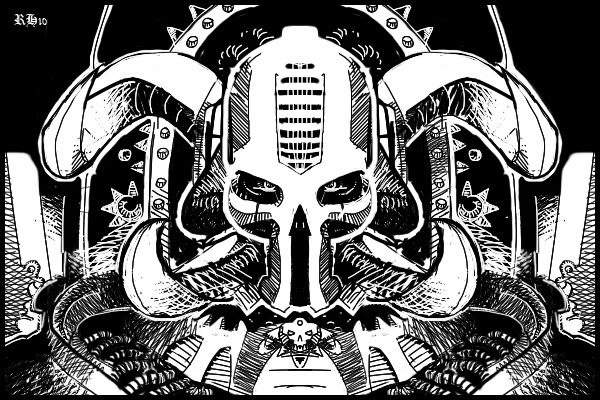 Chaos Terminator Lord WIP by Rafta