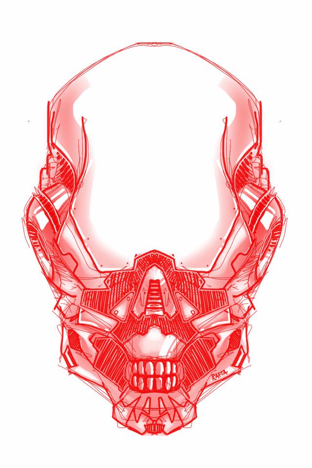Skull Helmet Alienstyle by Rafta