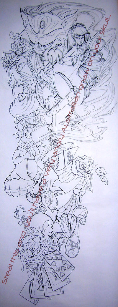 Malicious Alice Tattoo Lines by Asher-Bee