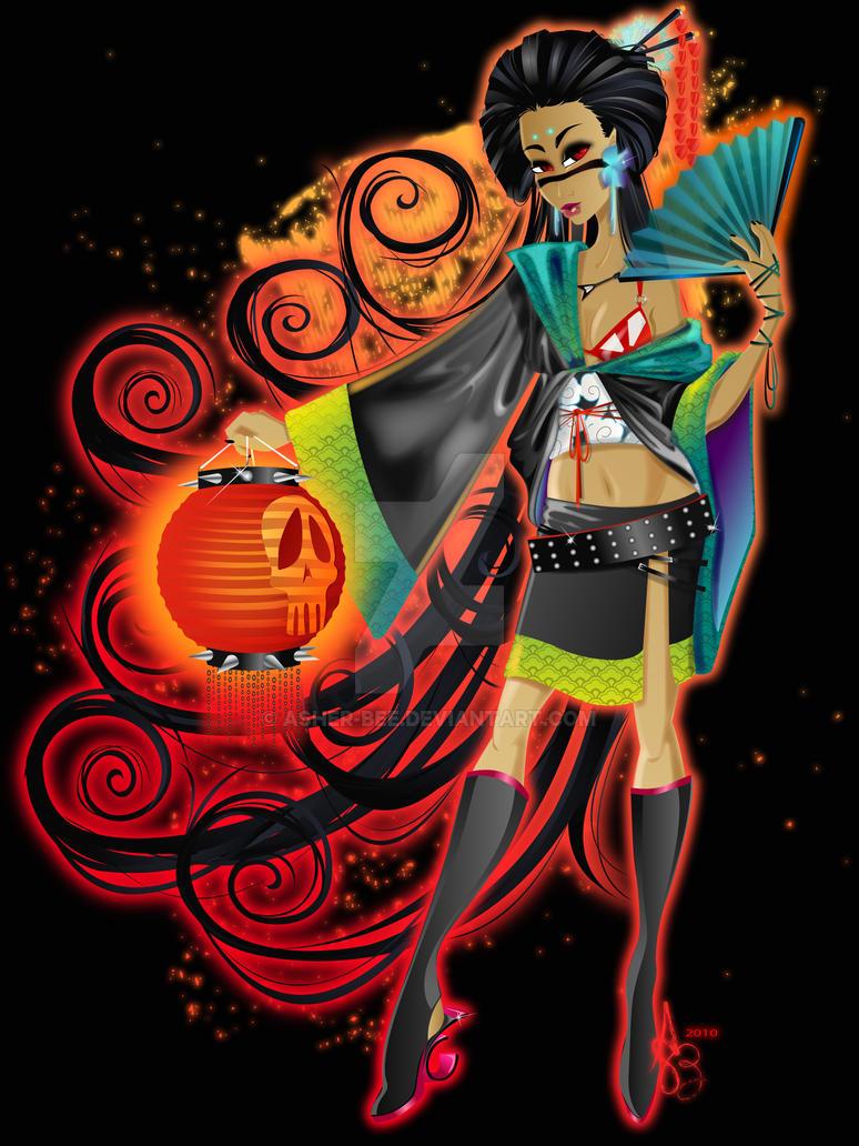 :The Dark Geisha: by Asher-Bee on DeviantArt