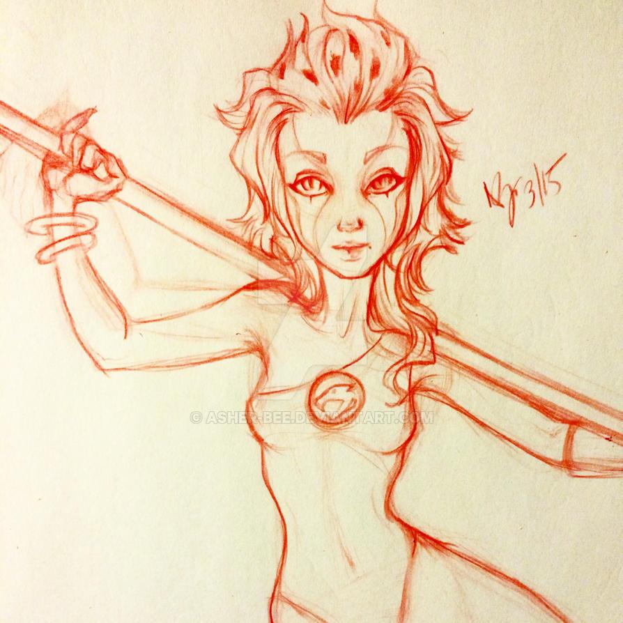 Cheetara sketch by Asher-Bee