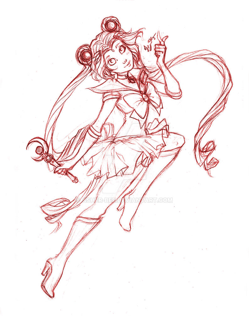 Sailor Moon by Asher-Bee