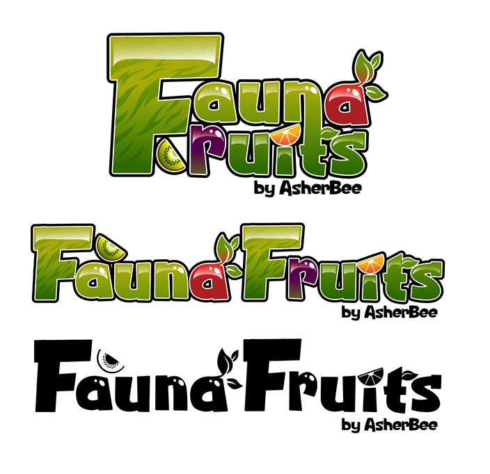 Fauna Fruit Logos by Asher-Bee