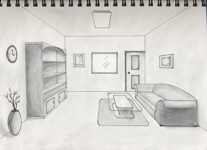 one point perspective living room drawing one point perspective interior by timluv on deviantart 26540