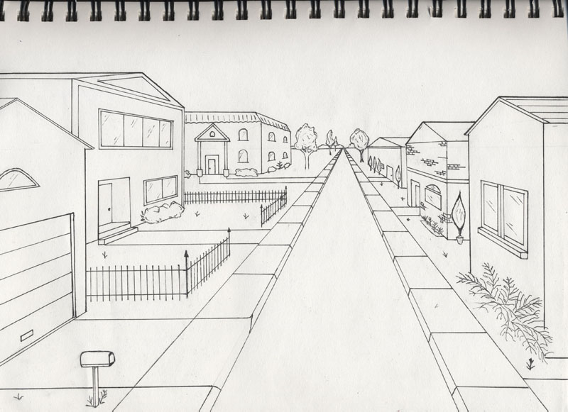 One point Perspective examples - Kiwiet Art