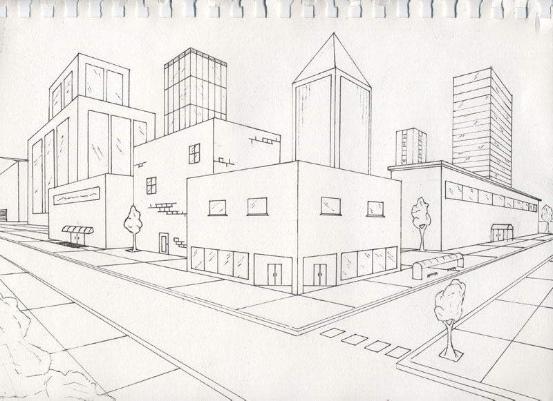 two point perspective exterior by timluv on deviantart
