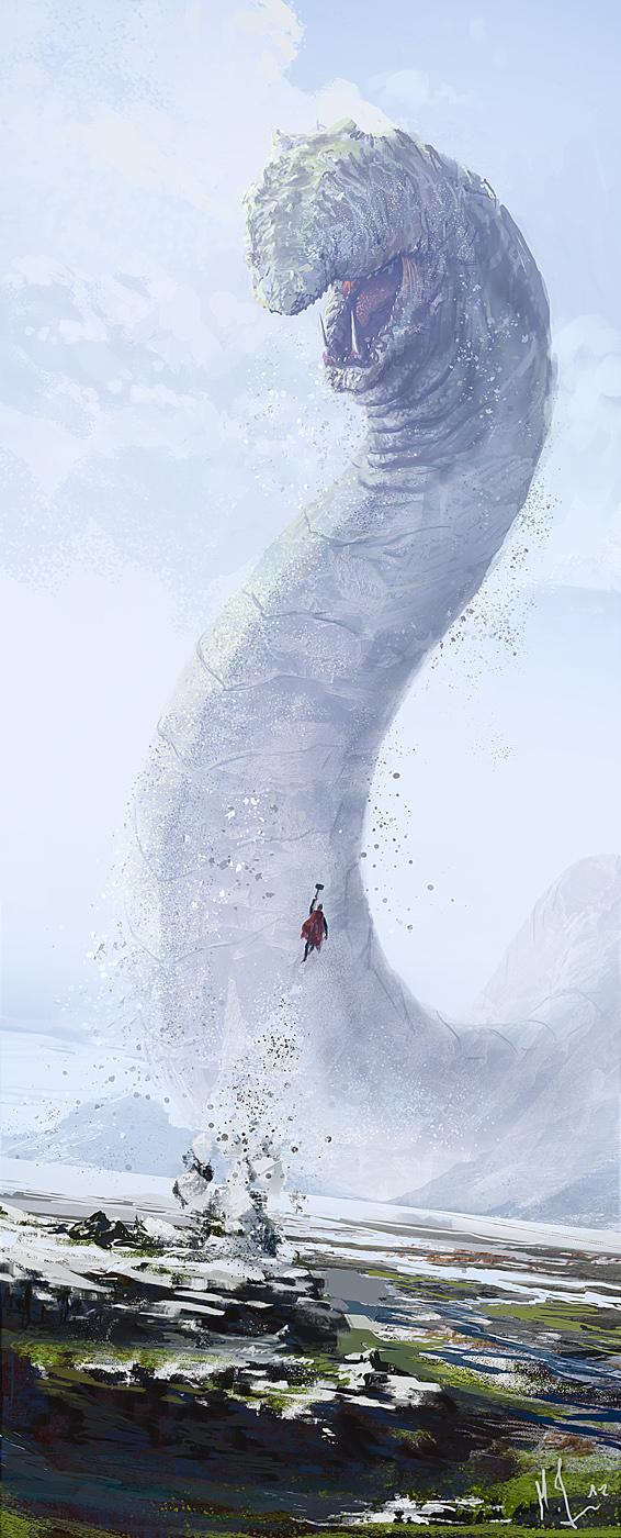 Thor vs Midgard Serpent by Shabow on DeviantArt