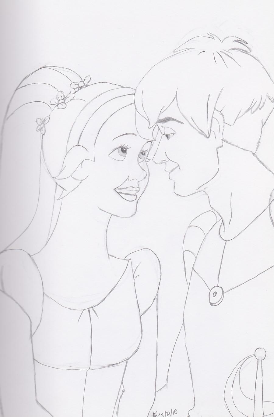 thumbelina coloring pages - thumbelina plus cornelius by emotionalpenguin on deviantart
