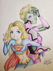 Supergirl x Brainiac 5 by KiuiKai