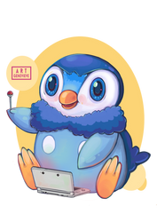 Gamer Piplup by 99g3ny99