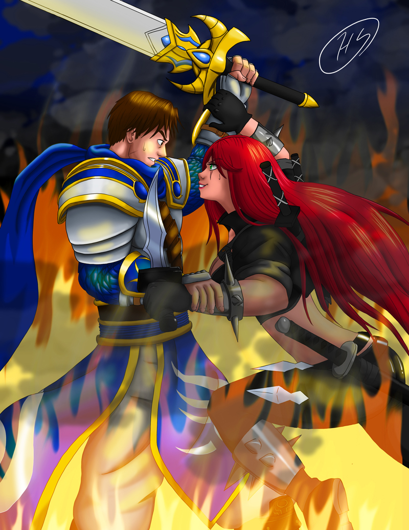 LoL Garen vs Katarina by Shouhda