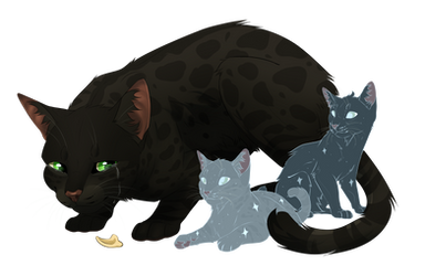 Leopardfoot with her daughters by WildDusTT