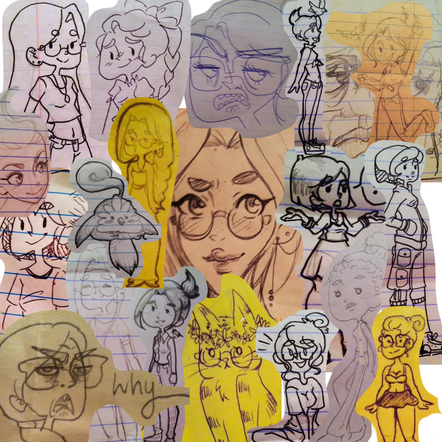 Another Doodle Dump by k00k3y