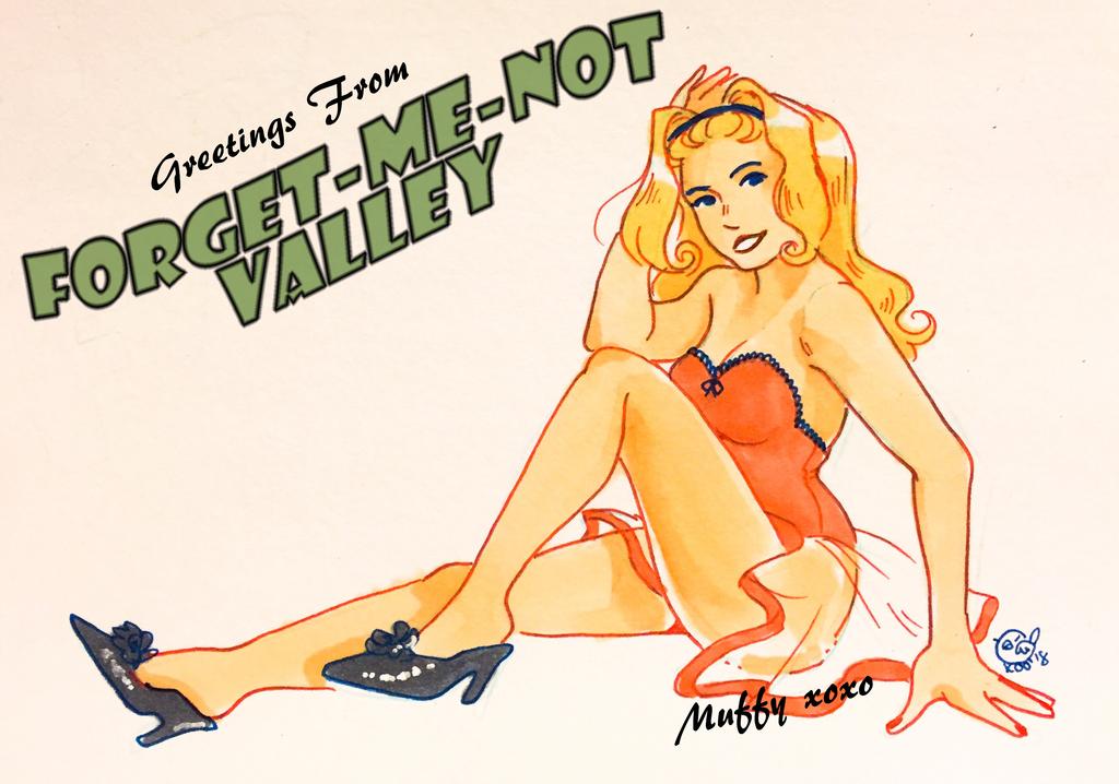 Muffy Postcard Pinup by k00k3y