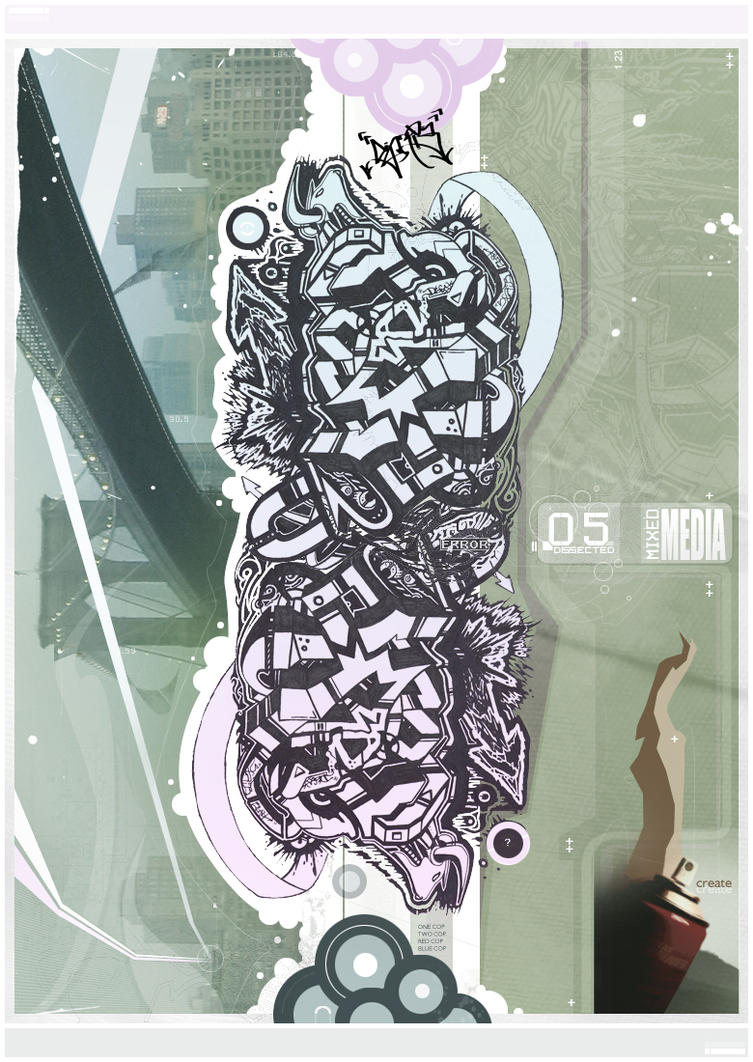 Abstract Graff:  Mixed Media by Artropolis