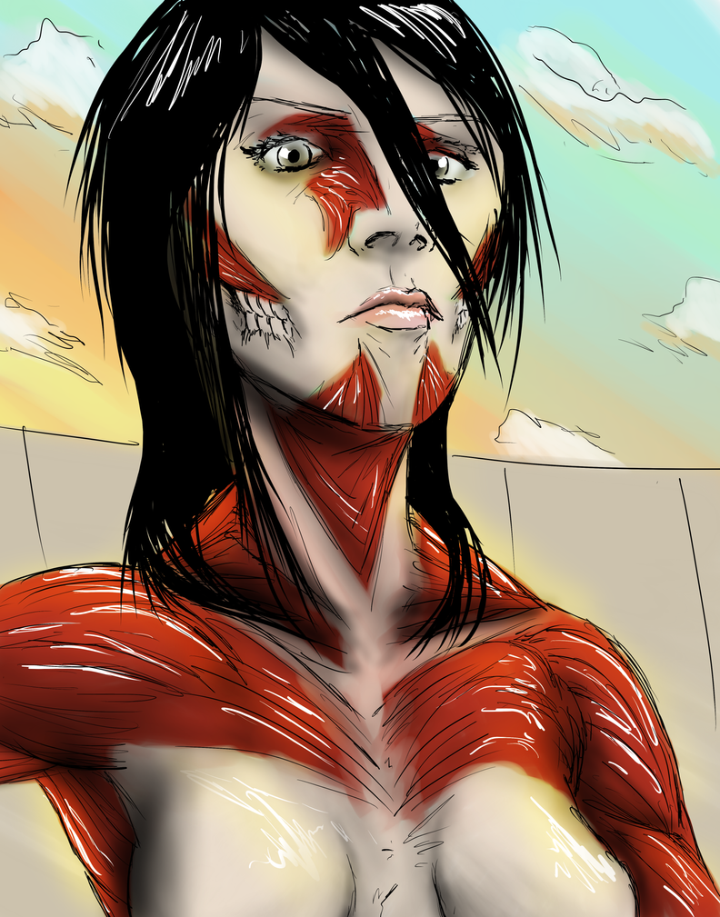 Mikasa ackerman titan by radecmai on deviantart mikasa ackerman titan by radecmai voltagebd Images
