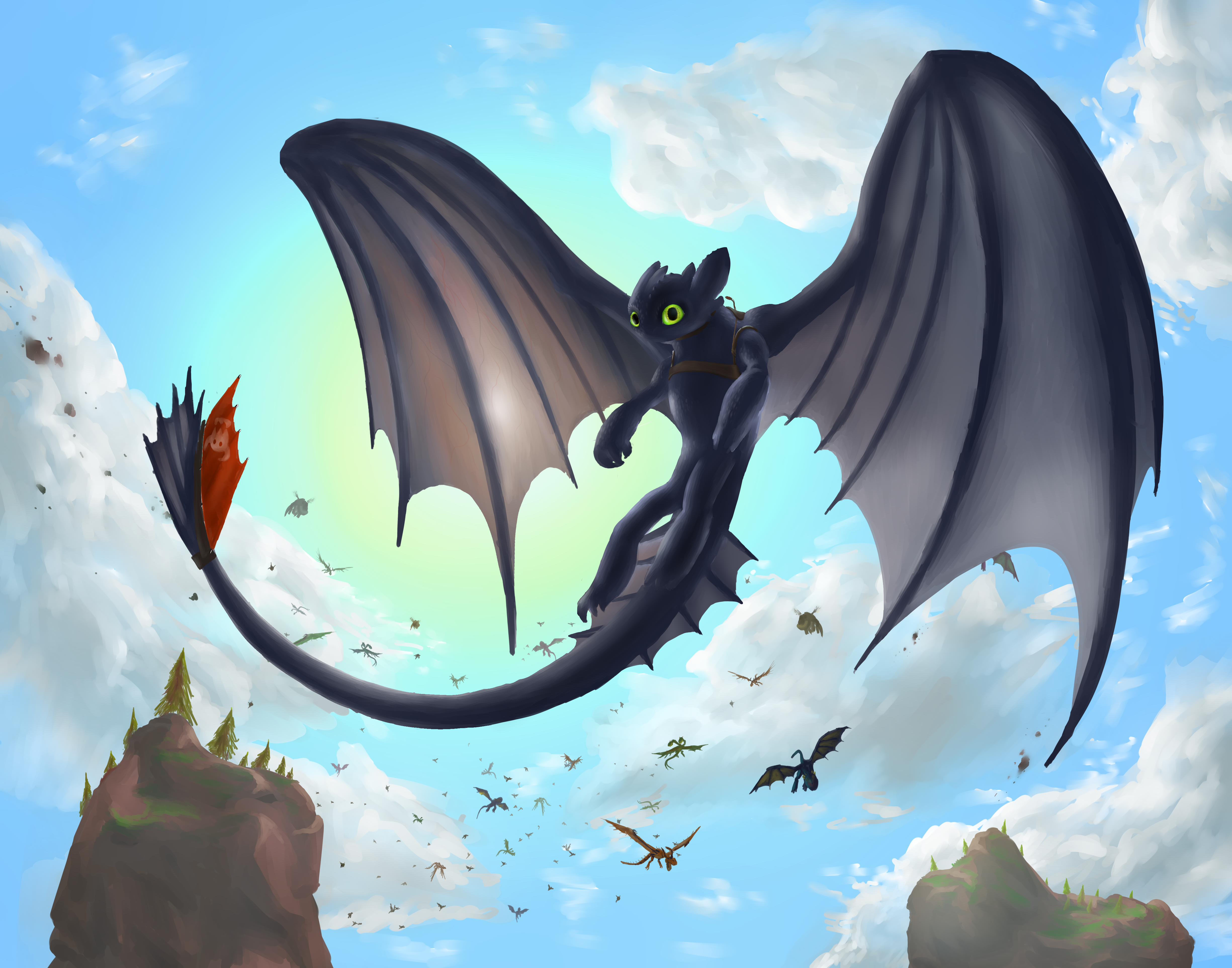 toothless the night fury favourites by violetrosedragon14 on