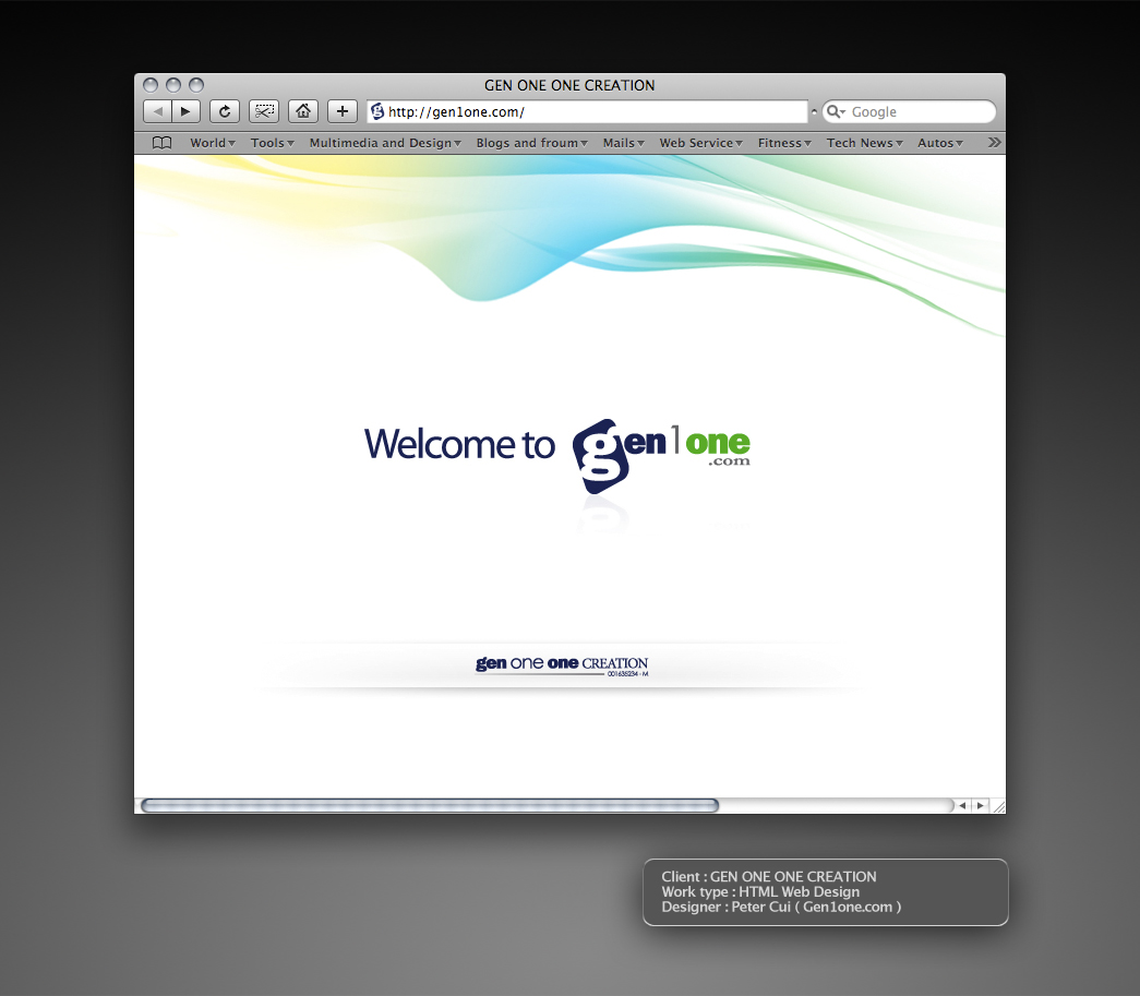 GEN ONE ONE CREATION webDesign by petercui