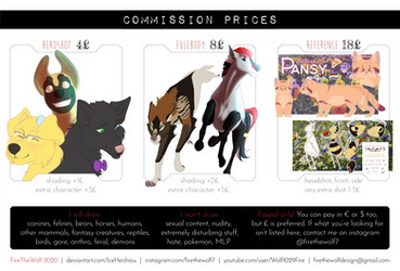 :OPEN COMMISSIONS: Flat Drawings - PRICELIST