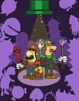 Italian Plumber Brothers by razorgunk