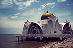 The Floating Mosque of Melacca by airl4ngg4