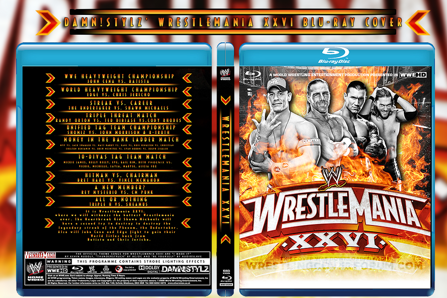 Wrestlemania XXVI Blu-ray by Mr-Damn