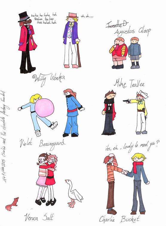 how to draw charlie and the chocolate factory