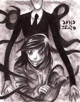 Slender man y Jeff the Killer (especial halloween) by david-digil-zero
