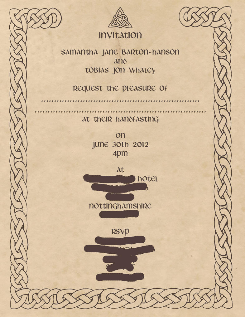 Official Wedding Invitation By Samcatt