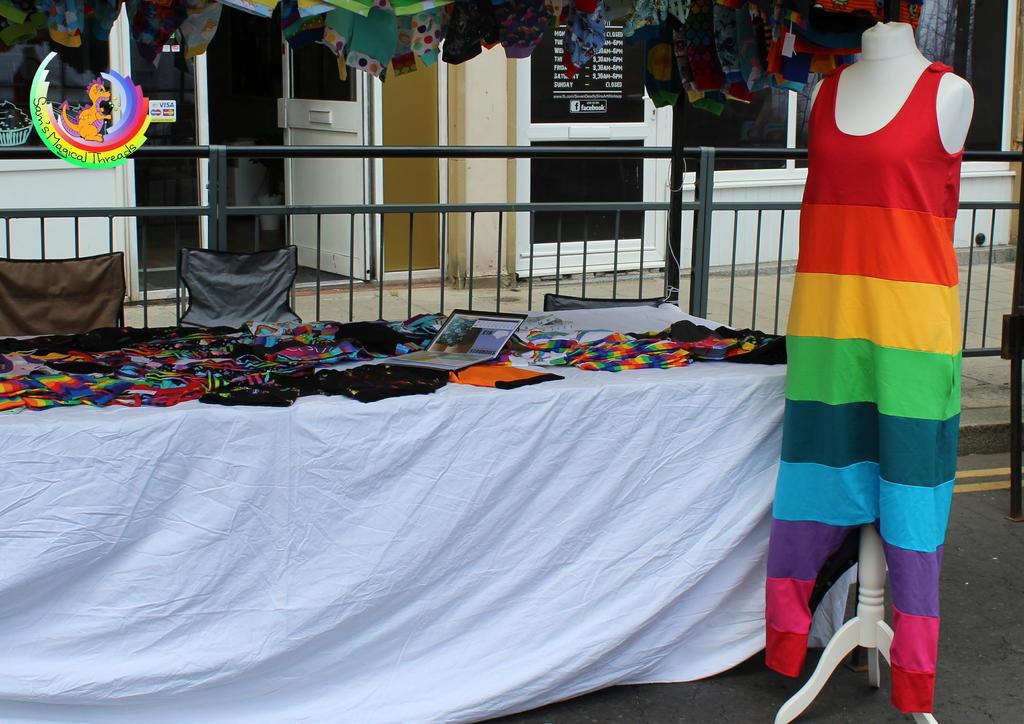 Rainbow Dungarees by Samcatt