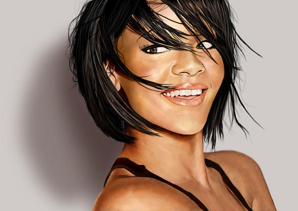 Painting: Rihanna by SuperNinkendo