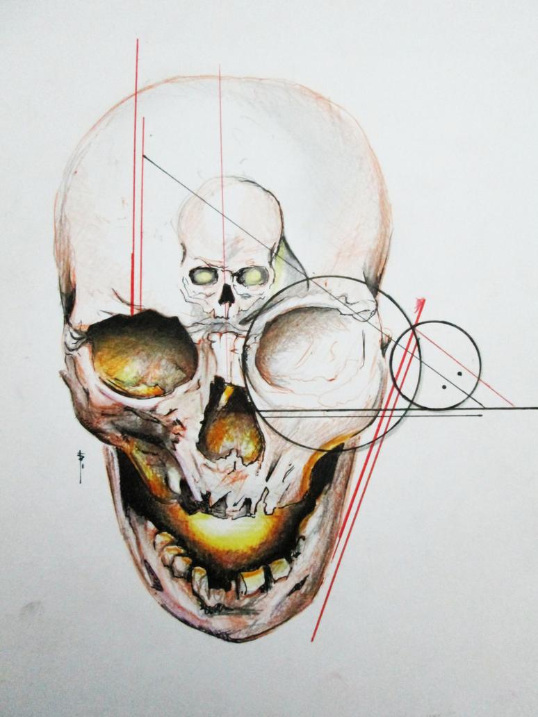 Tattoo Skull Draw by Agnishad on DeviantArt