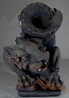 Gargoyle Bookend - left by elfnor