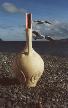 Bird Pot with Seagulls