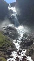 Waterfall in adelboden switzerland