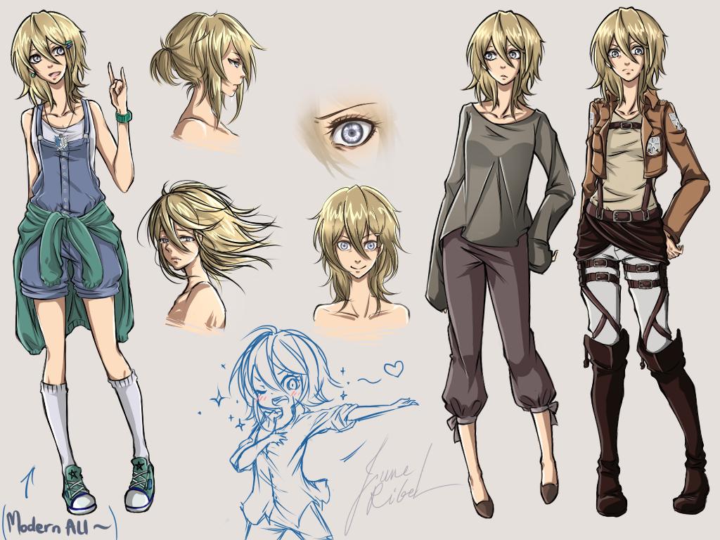Character Design Oc : Snk oc june rigel character design by junerigel on