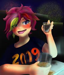 New Year Drop