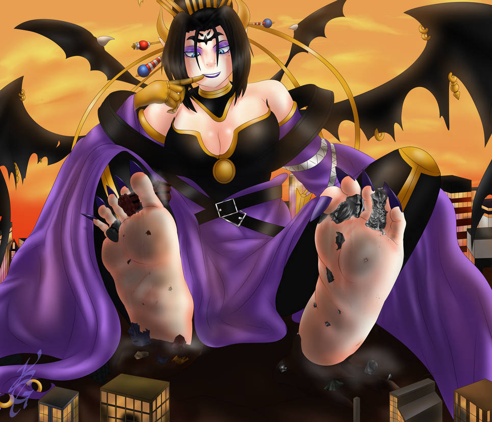 Lilithmon Sits in Her Aftermath by kogochew