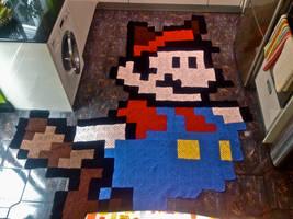Tanuki Mario by ColourdyCrochetHooks