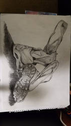 Shoes Still Life | Charcoal | Drawing by TheInscrutableFufy